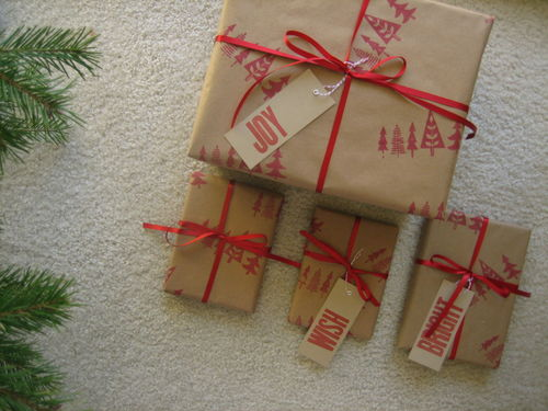 brown paper packages tied up with everything including string