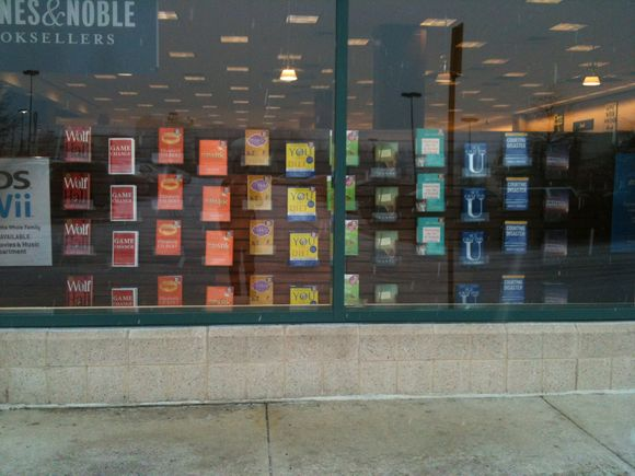 thank you barnes&noble for the rainbow order book display.