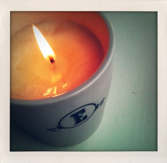 apple cider and a lit candle? it must be fall.