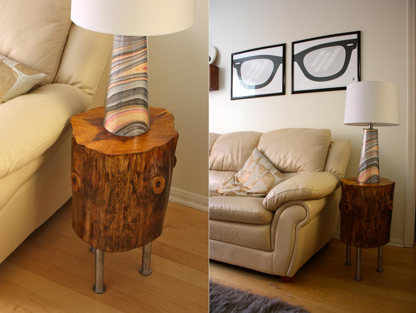 tree stump table table