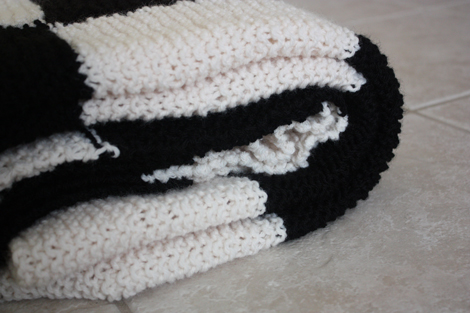 Enjoy It By Elise Blaha Cripe Project 24 Of 26 A Checkerboard Knit Blanket