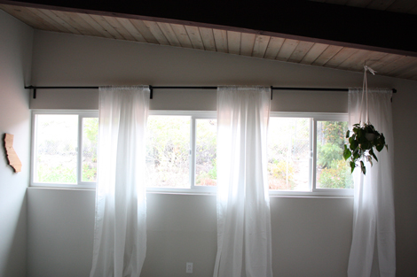 Curtain Rod For Window Against Wall