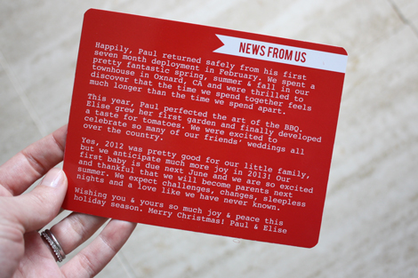 On The Backside I Stuck With A Very Similar Look To Our  Cards I Think Ill Just Keep This Simple Design Forever And Once Again Used