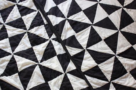 Enjoy It By Elise Blaha Cripe My Black And White Triangle Quilt