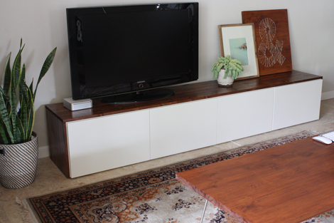 DIY media cabinet. Ikea_hack_media_cabinet