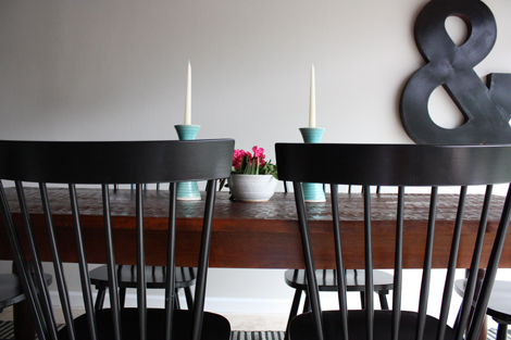 I sent Paul a bunch of pinterest links to light chairs with dark wood tables  and black. enJOY it by Elise Blaha Cripe  a really long story about our