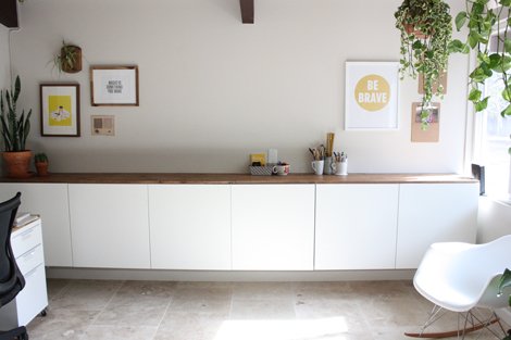 Ikea Credenza Office Furniture : Enjoy it by elise blaha cripe: office remodel part two.