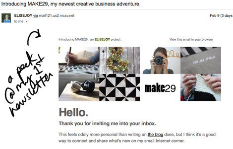 Make29newsletter