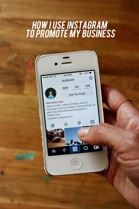 how I use instagram to promote my business
