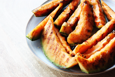 easy summer food : Grilled Cantaloupe