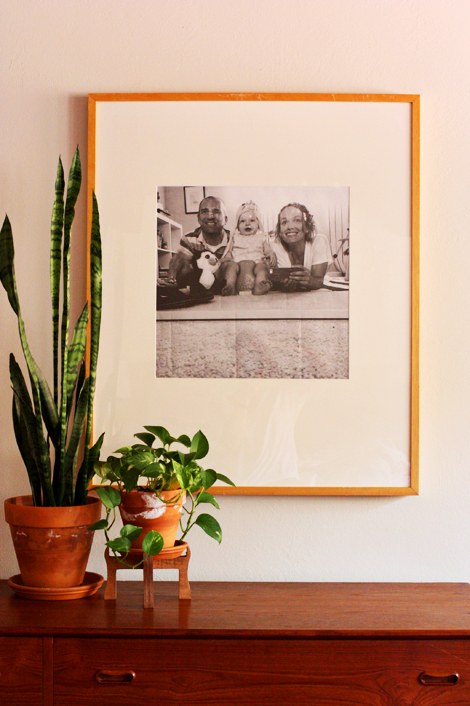 enJOY it by Elise Blaha Cripe: thrift store art to framed family photo.