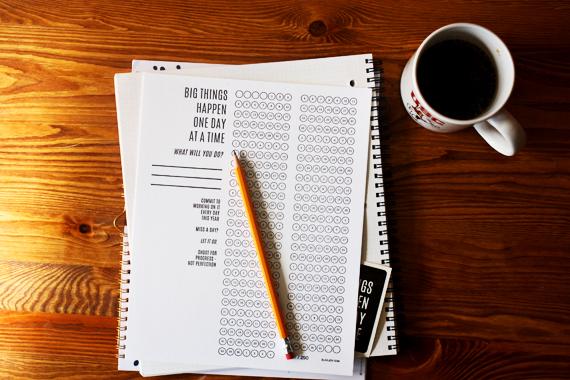 2015 goal tracking daily calendar