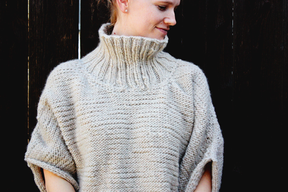 knit sweater (includes video tutorial on how to knit2purl2)