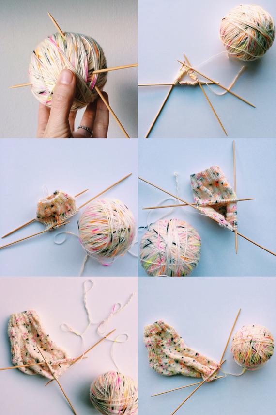 in process sock knitting