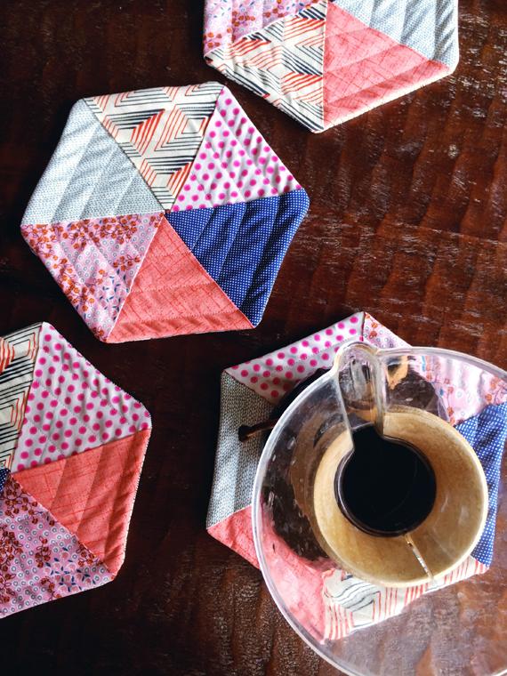 Enjoy It By Elise Blaha Cripe Quilted Hexagon Potholders