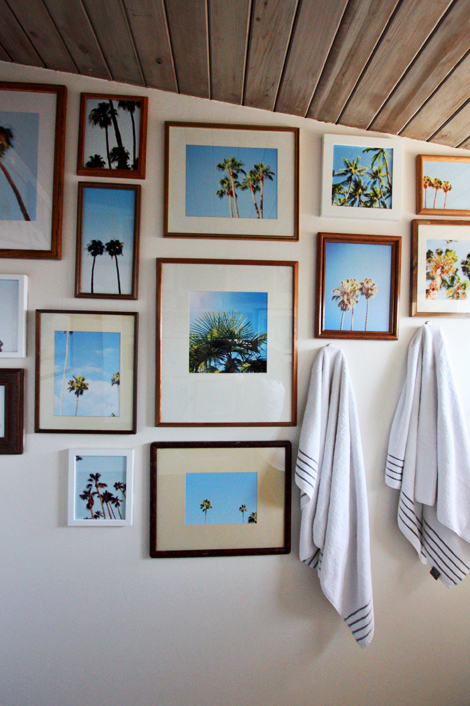 palm tree collage wall
