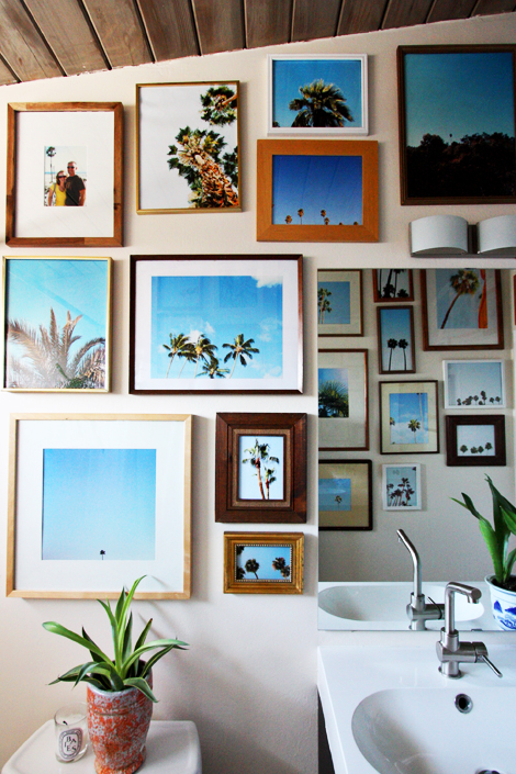 palm tree gallery wall