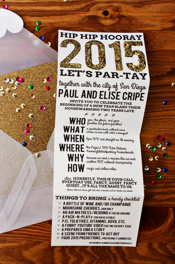 Enjoy It By Elise Blaha Cripe New Year S Eve Party Invites