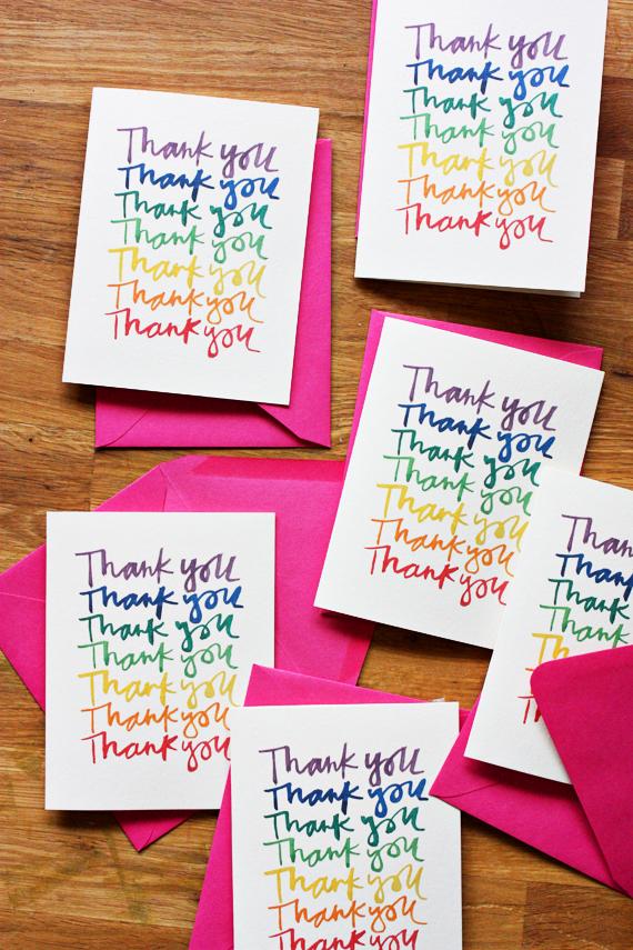 enjoy it by elise blaha cripe rainbow thank you cards a free