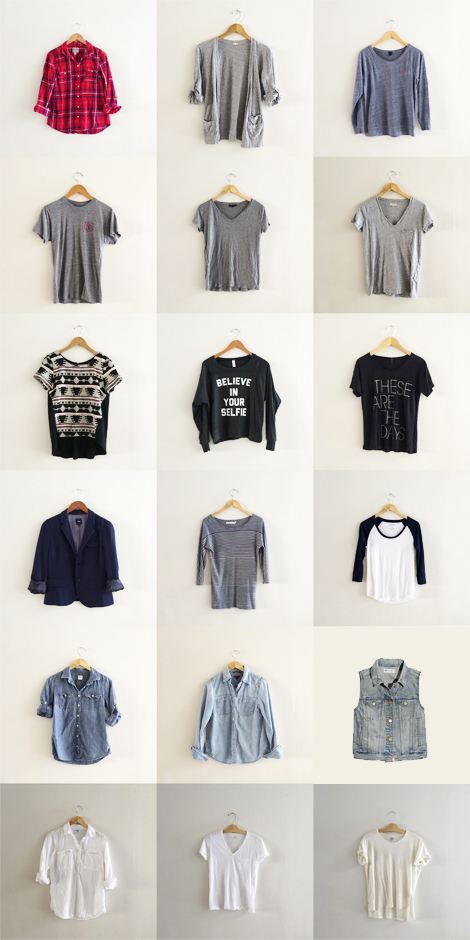 autumn capsule wardrobe tops