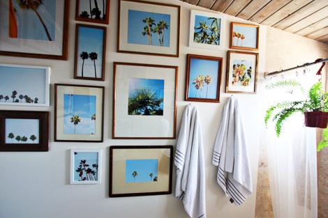 thrifted frame wall art
