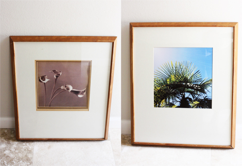 thrifted frame wall art