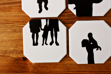 modern silhouette coasters