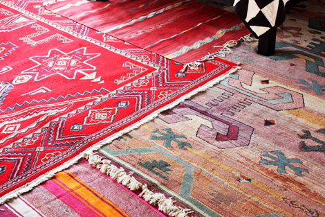 layered area rugs