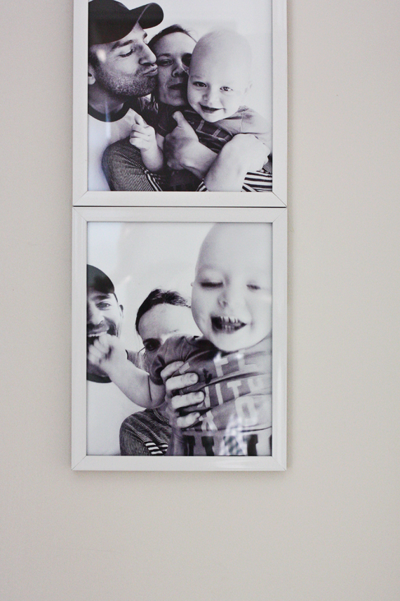 huge photobooth style family photos.