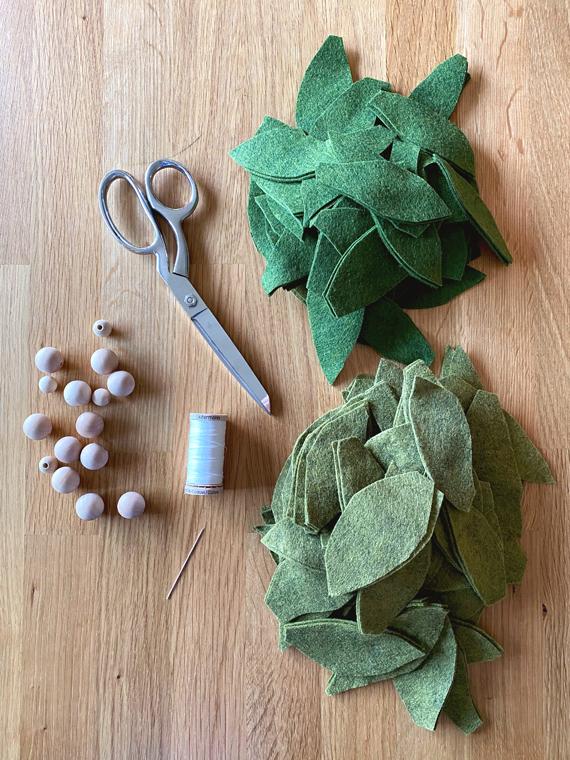 Felt garland supplies