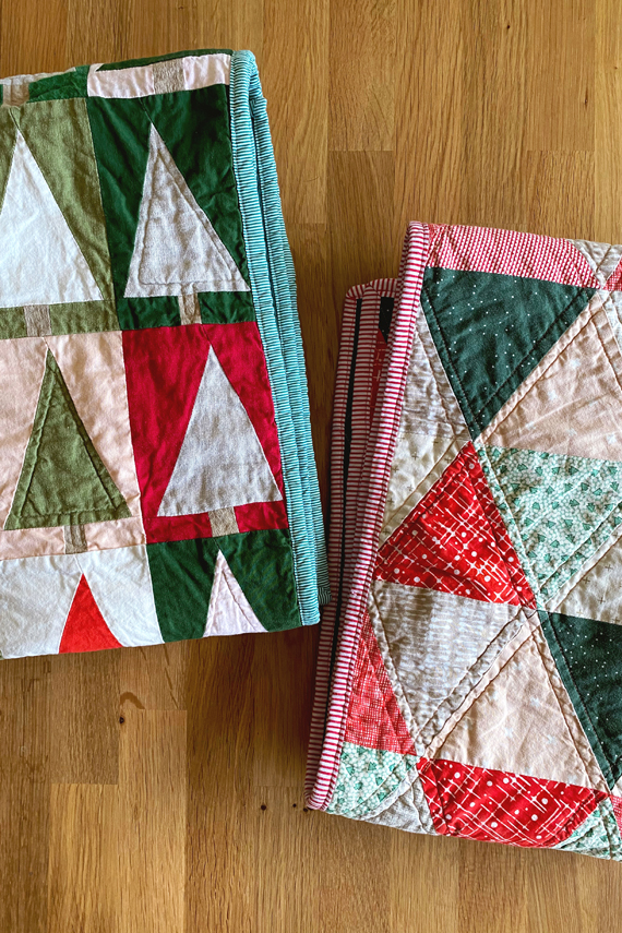 Modern christmas quilts