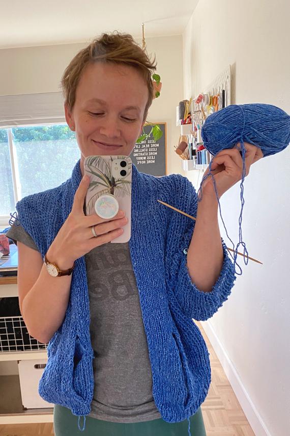 Sweater in progress