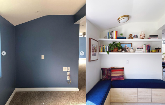 Reading nook transformation